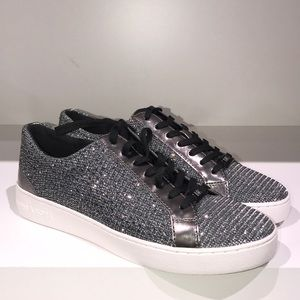 Michael Kors Catelyn lace crystal glitter silver